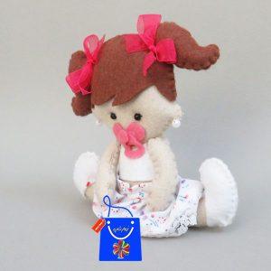 عروسک نوزاد دختر نمدی